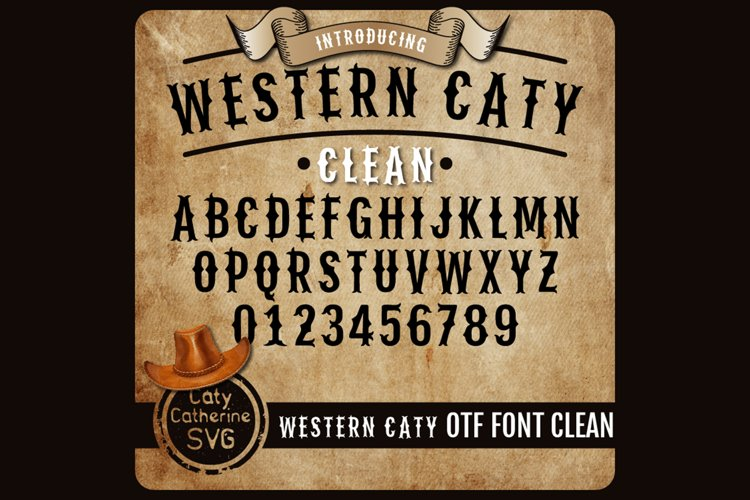 Western Caty Font Family Clean OTF Font example image 1