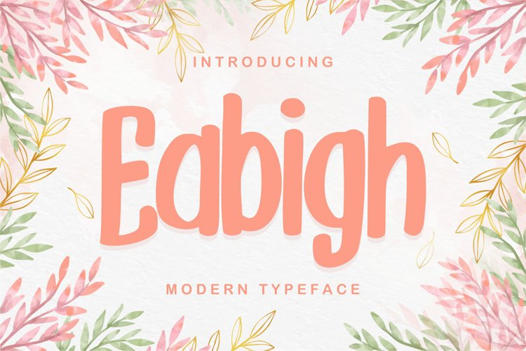 Eabigh | Modern Typeface example image 1