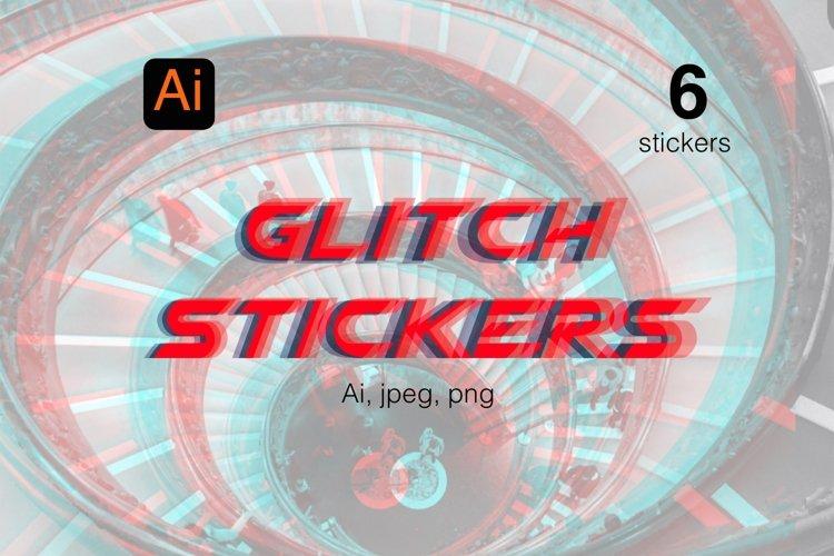 Glitch stickers