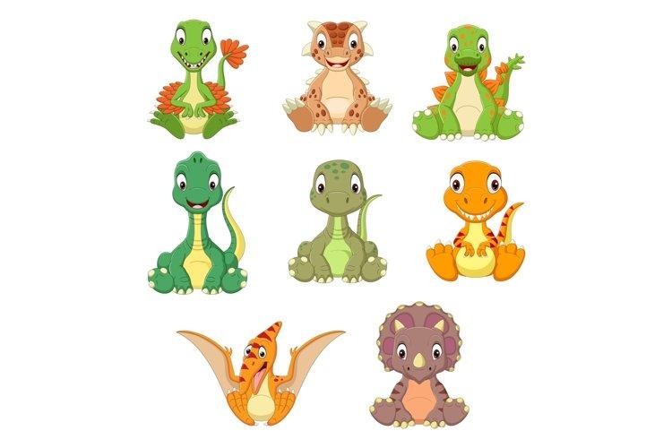 Cartoon Baby Dinosaurs Bundle example image 1