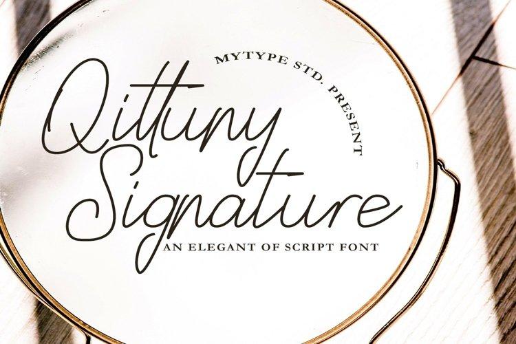 Qittuny - Signature Font example image 1