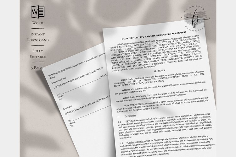Confidentiality and Non-Disclosure Agreement