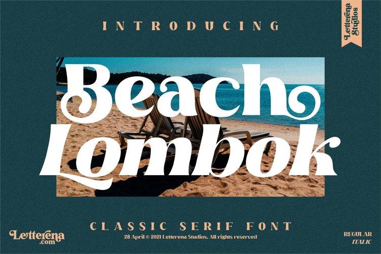 Beach Lombok - Luxury Serif Font example image 1