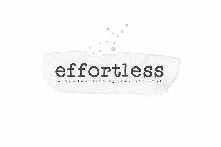 Effortless - A Typewriter Font example image 1