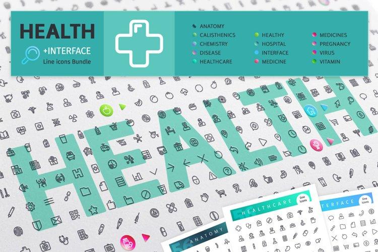 Health 700 Line Icons Bundle example image 1