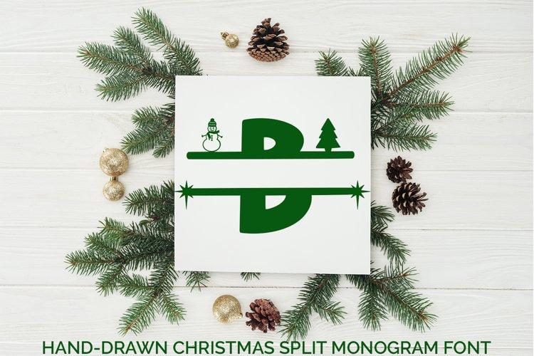 Hand-Drawn Christmas Split Monogram Font example image 1