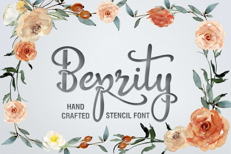 Beprity Stencil Font example image 1