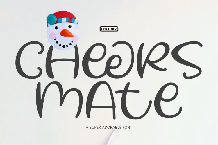 Cheers Mate - A Cute and Playful Font. example image 1