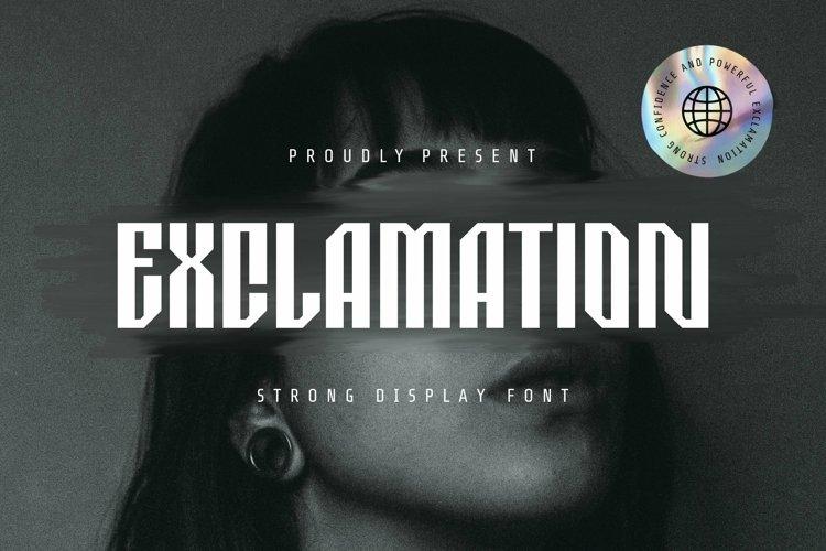 Web Font Exclamation Font