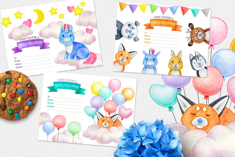 CUTE ANIMALS collection BABY SHOWER example 7