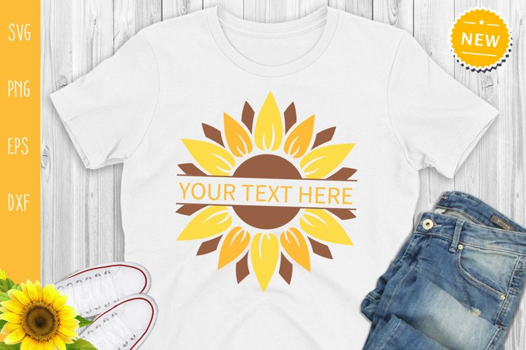 Sunflower Bundle Svg, Sunflower Svg, Sunflower Monogram Svg example 3