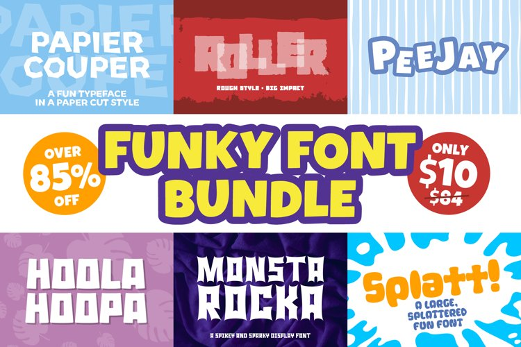 Funky Font Mini Bundle example image 1