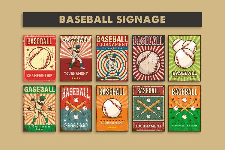 Baseball Vintage Signage Poster