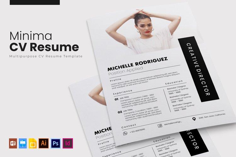 Minima | CV & Resume example image 1