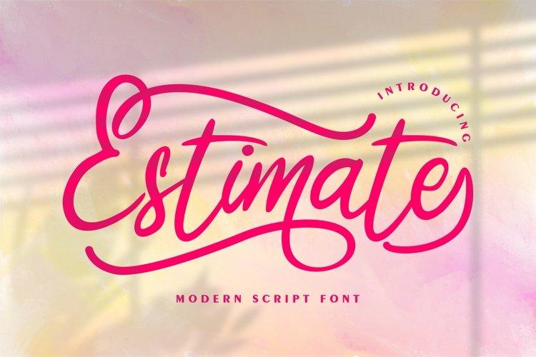 Estimate | Modern Script Font example image 1