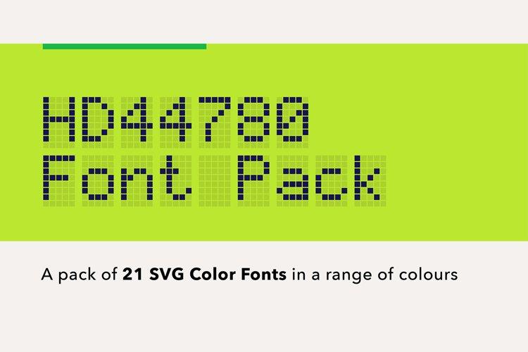 LCD Color Font Bundle example image 1