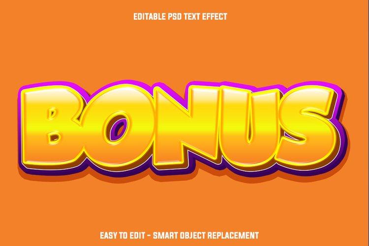 Gold bonus text effect example image 1