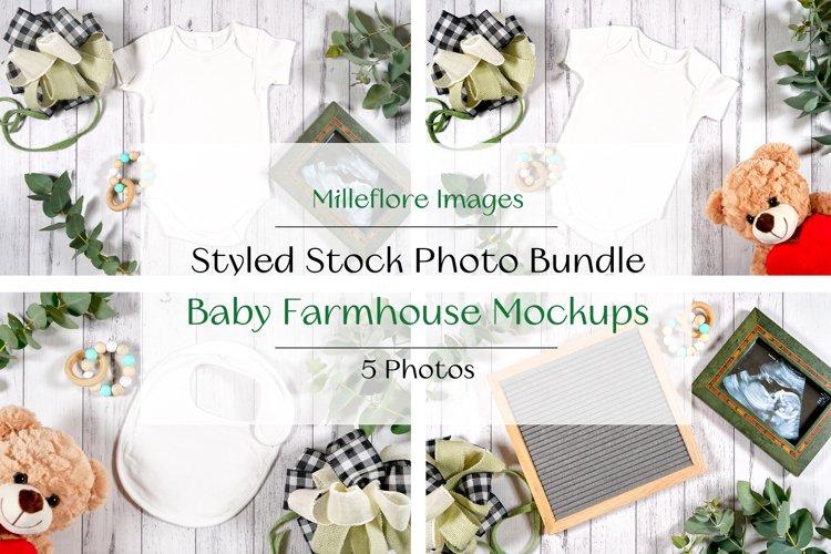 Farmhouse Baby Wear Craft Mockup Styled Stock Photo Bundle example image 1