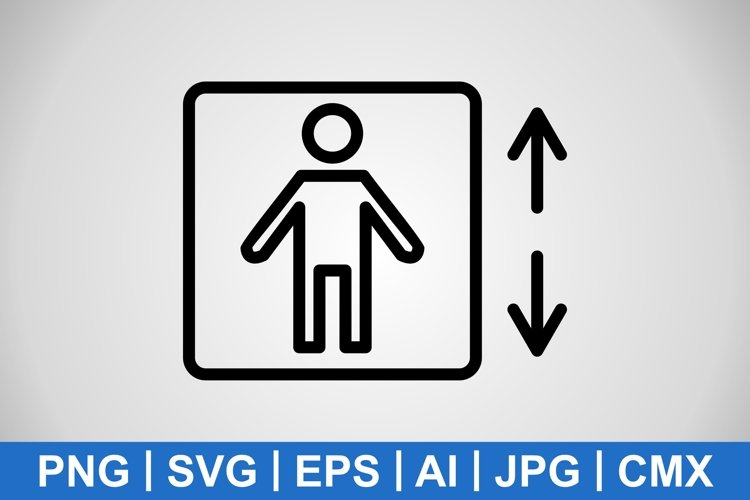 Vector Lift Icon example image 1