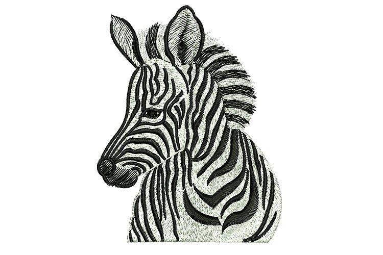 Zebra machine embroidery designs example image 1