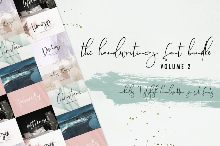 The Handwriting Font Bundle Vol. 2