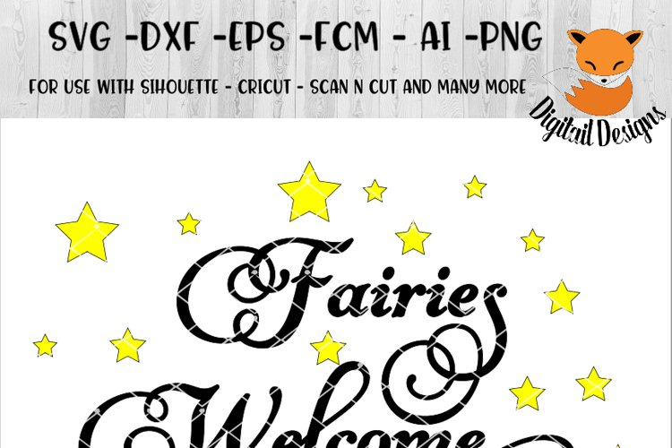 Fairy SVG - png - eps - dxf - ai - fcm - Fairies SVG - Silhouette - Cricut - Scan N Cut - All I See is Magic SVG example image 1