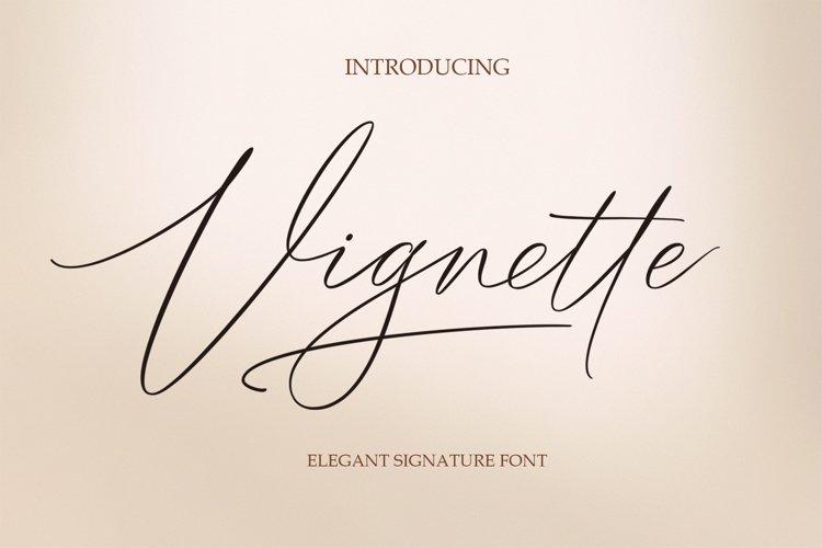 Vignette Signature Script