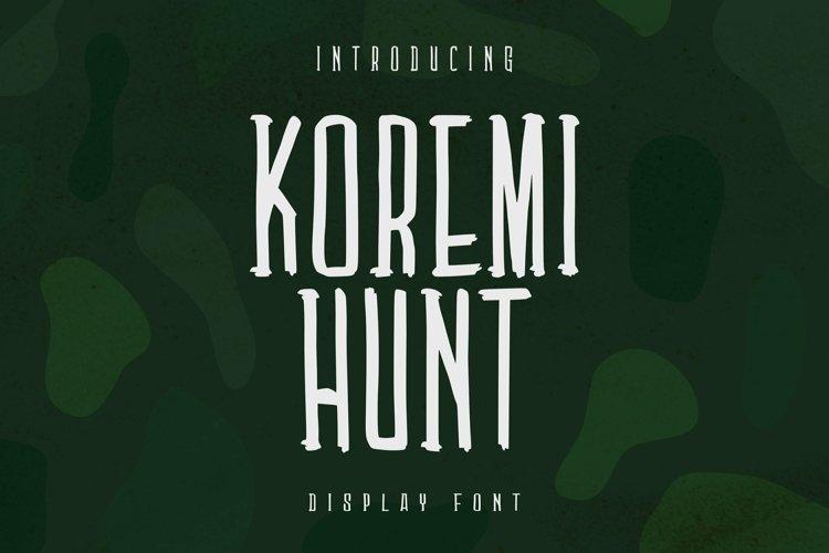 Web Font Koremi Hunt Font example image 1