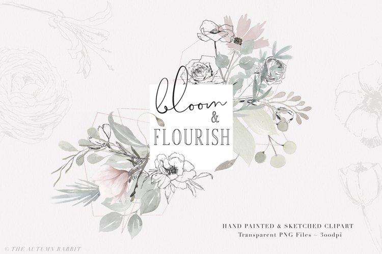 Bloom & Flourish - Floral Clipart Set example image 1