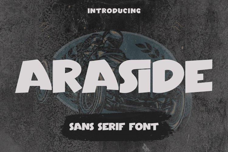 Araside - Sans Serif Font example image 1
