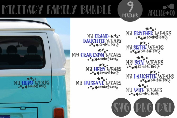 Military Family bundle, Wears combat boots, SVG, PNG, DXF
