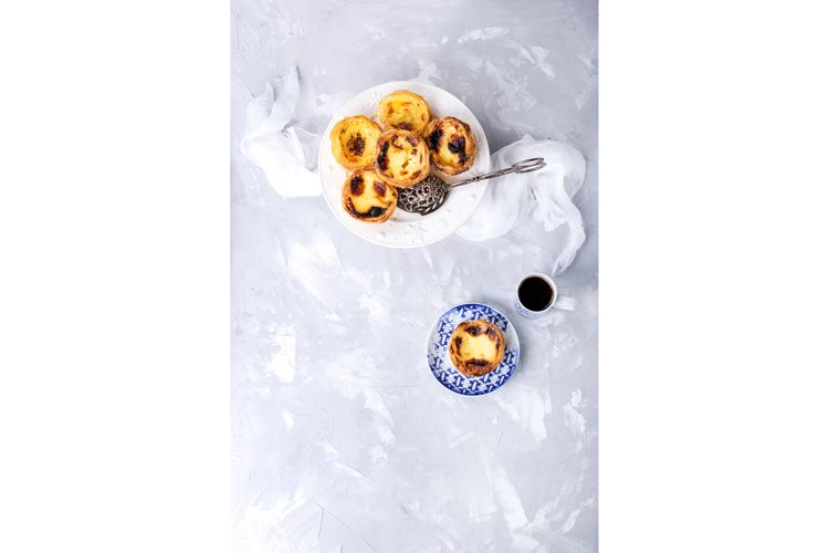 Pastel de Nata served with coffee example image 1
