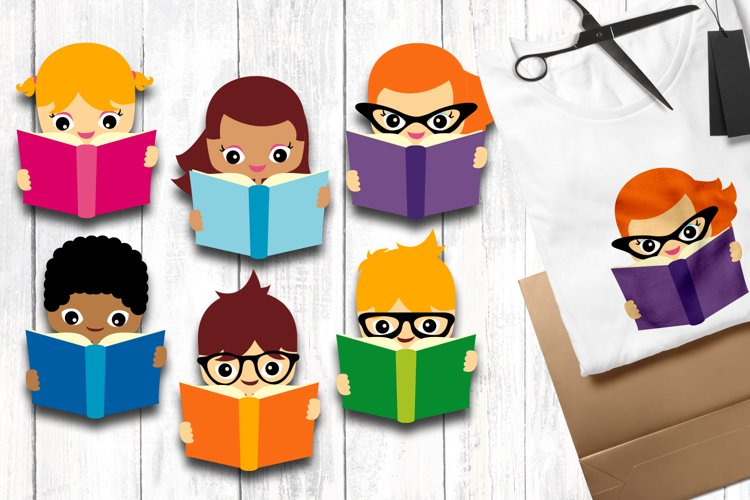 Reading - Back to school clip art graphics