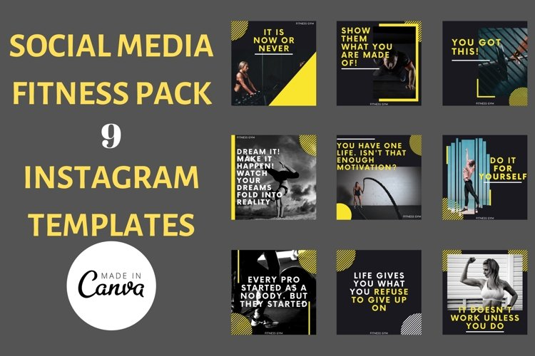 Instagram Post Template- Gym/ Fitness example image 1