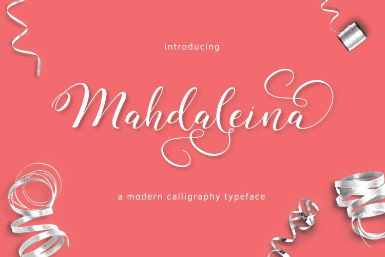 Mahdaleina Typeface example image 1