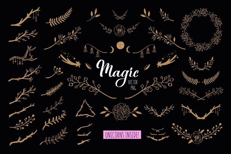 Botanical magic flower decor collection example image 1