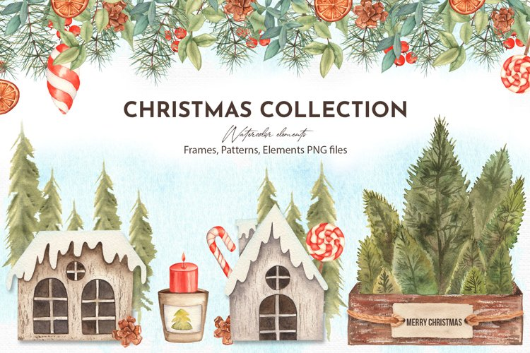 Watercolor Christmas Collection example image 1