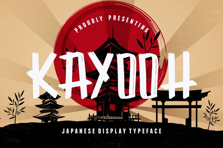 Kayooh Japanese Display Typeface example image 1