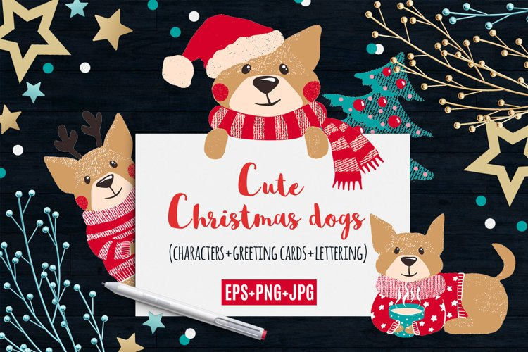 Cute Dogs for Christmas and New Year example image 1