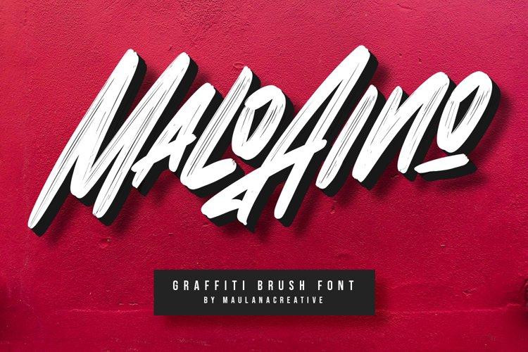 Malo Aino Graffiti Brush Font example image 1