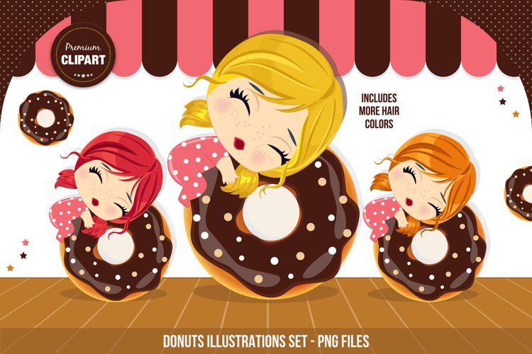 Donuts graphics, I love donuts illustrations example image 1