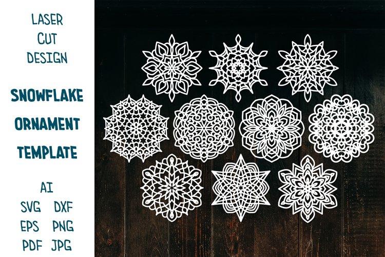Snowflake SVG, Christmas Snowflakes, Snowflakes Laser Cut example image 1