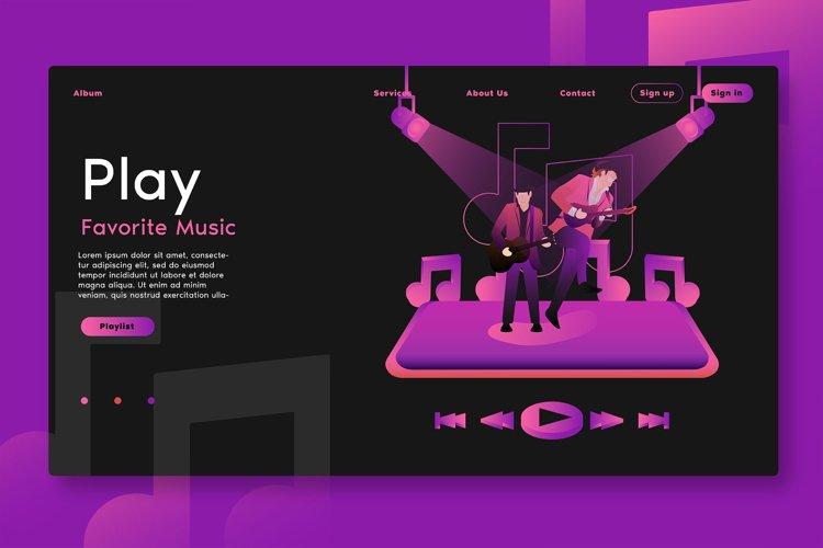Play Favorite Music - Landing Page example image 1