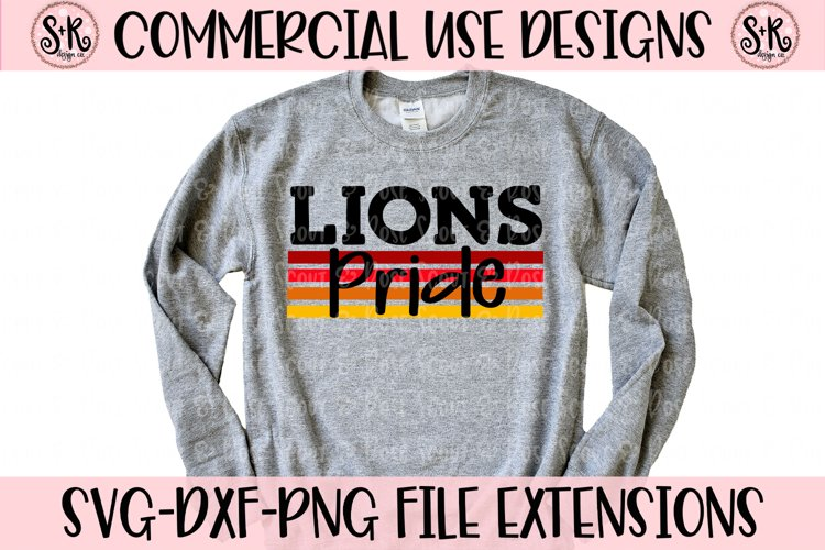 Lions Pride SVG DXF PNG example image 1