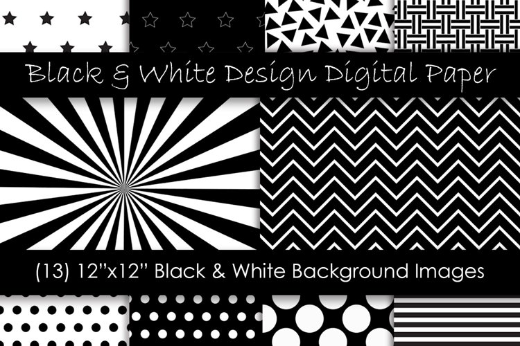 Black and White Pattern Designs example image 1