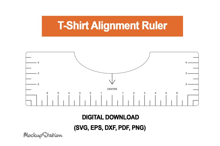 Tshirt Ruler SVG | T-shirt Alignment Tool DXF