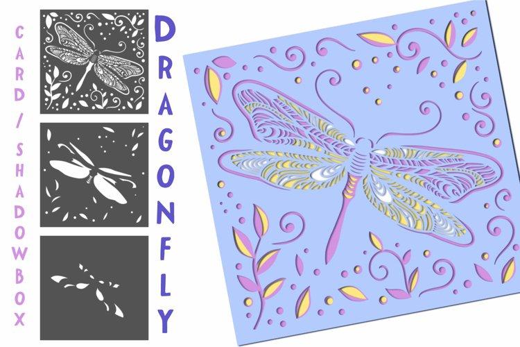 Dragonfly Layered Card / Shadow Box - 3 layers