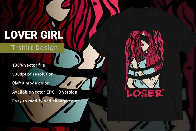 Lover Girl   T-Shirt Design example image 1