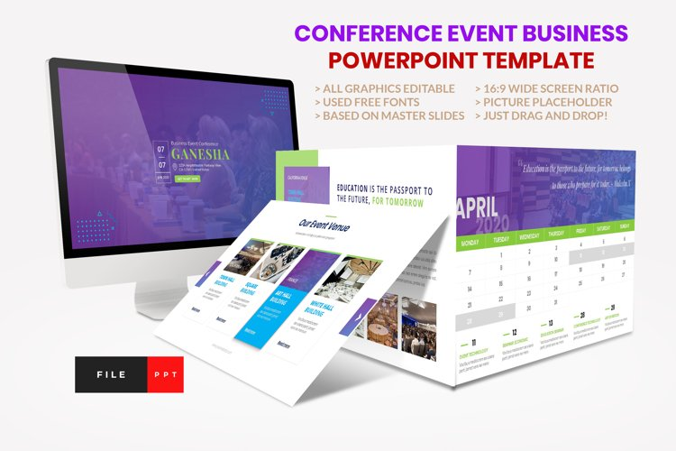 Conference - Event Business Seminar PowerPoint Template example image 1