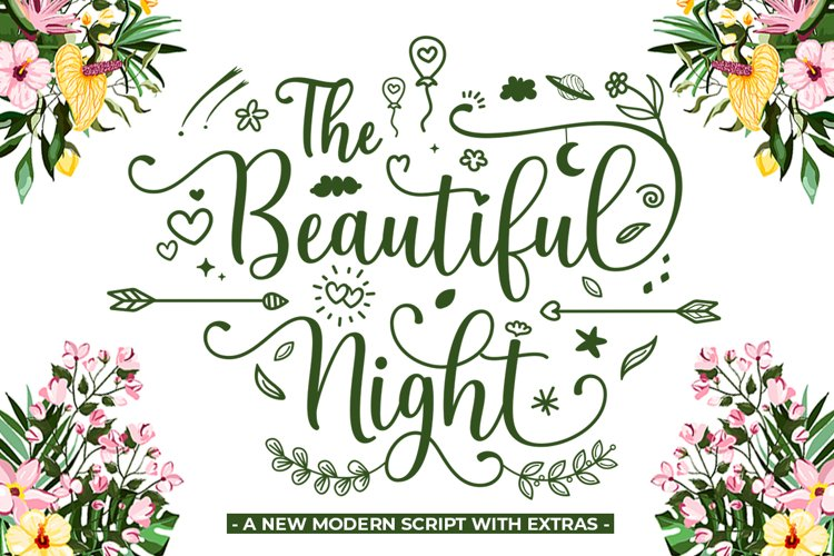 The Beautiful Night Script With Extras example image 1